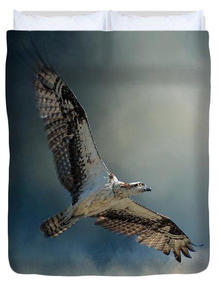 Winter Osprey Duvet Cover by Jai Johnson