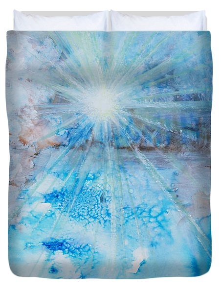 Winter Scene Duvet Cover by Tara Thelen