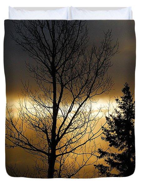Winter Sunrise 2 Duvet Cover by Sebastian Musial