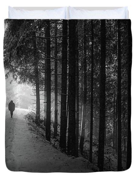 Winter Walk - Austria Duvet Cover by Mountain Dreams