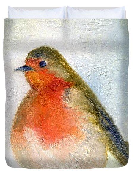Wintry Duvet Cover by Nancy Moniz