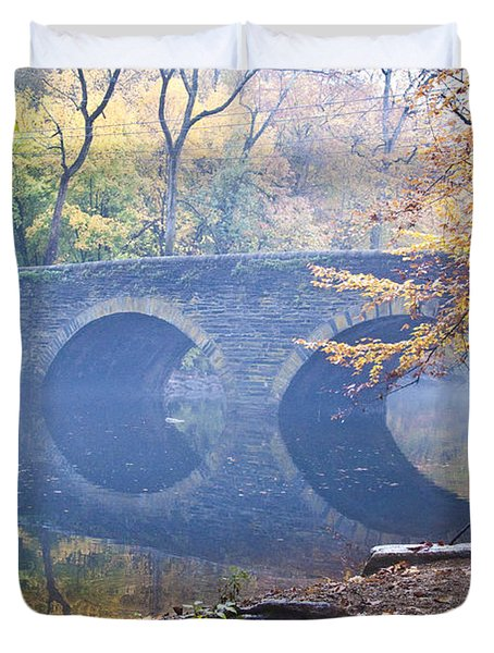 Wissahickon Creek At Bells Mill Rd. Duvet Cover by Bill Cannon