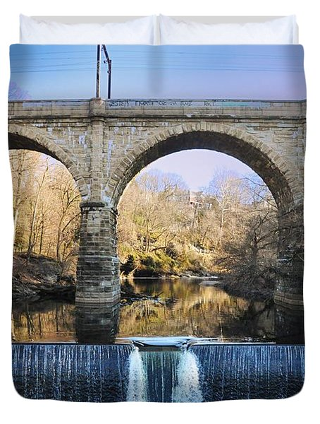 Wissahickon Viaduct Duvet Cover by Bill Cannon