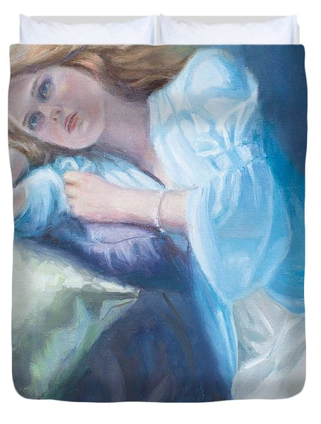 Wistful Duvet Cover by Sarah Parks