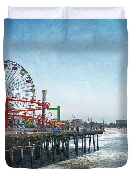 With A Smile On My Face Duvet Cover by Laurie Search