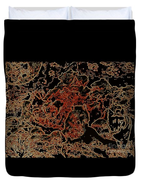 Wolf Tapestry Duvet Cover by WBK
