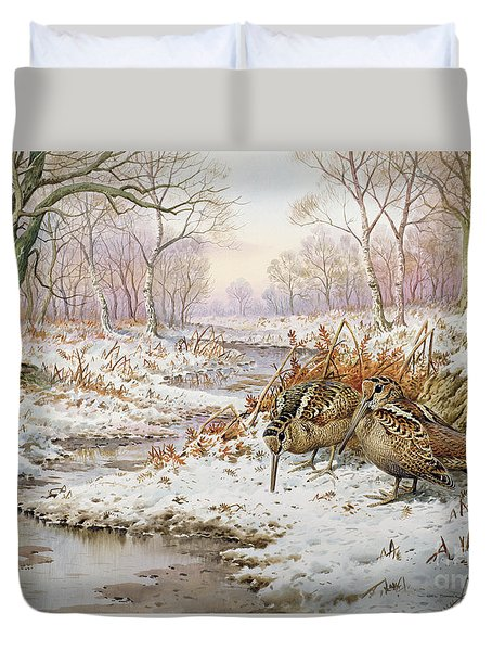 Woodcock Duvet Cover by Carl Donner