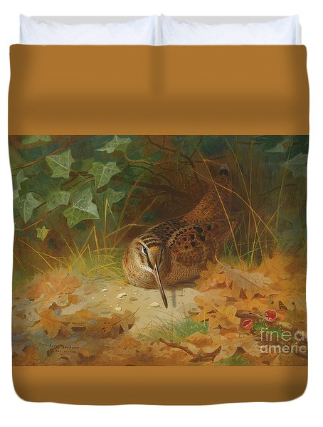 Woodcock Duvet Cover by Celestial Images