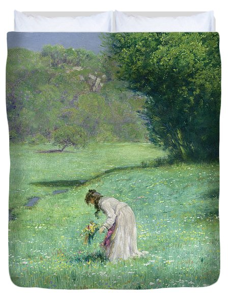 Woodland Meadow Duvet Cover by Hans Thoma