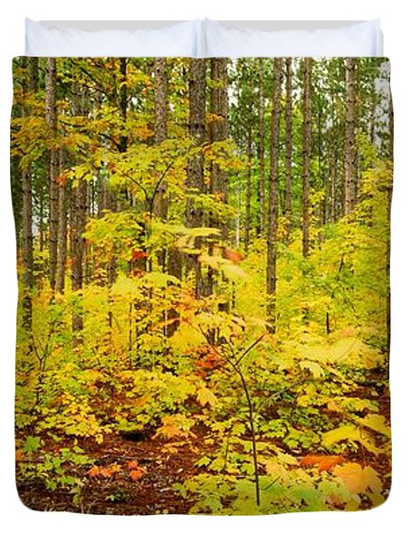 Woodland Panorama Duvet Cover by Michael Peychich