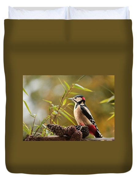 Woodpecker 3 Duvet Cover by Heike Hultsch