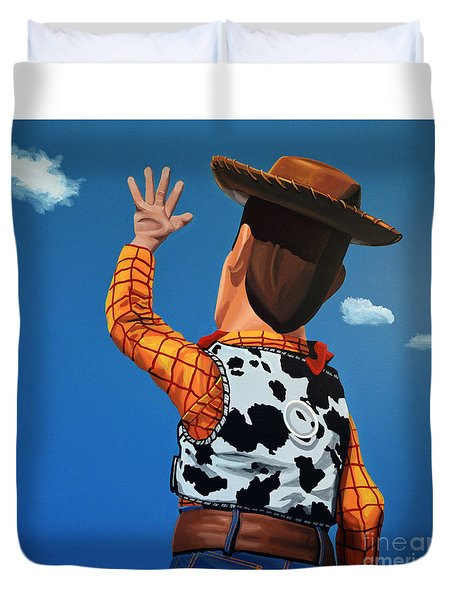 Woody Of Toy Story Duvet Cover by Paul Meijering