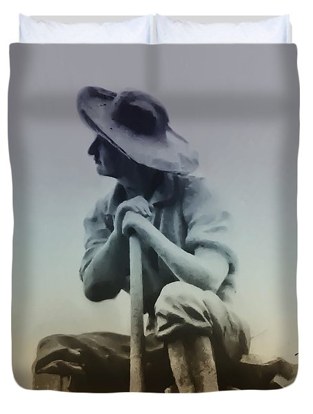 Working Man Duvet Cover by Bill Cannon