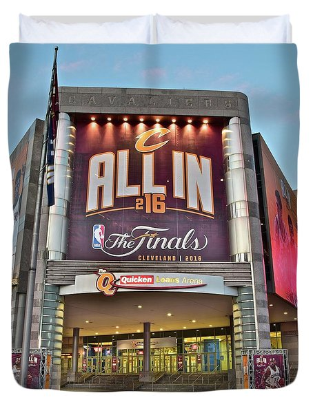 World Champion Cleveland Cavaliers Duvet Cover by Frozen in Time Fine Art Photography