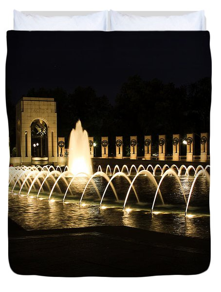 World War Memorial Duvet Cover by Kim Hojnacki