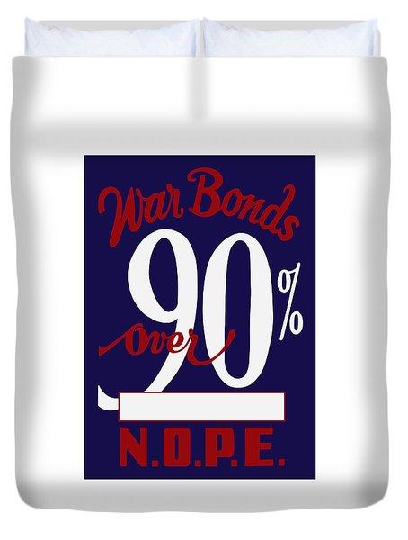 World War Two War Bonds Duvet Cover by War Is Hell Store