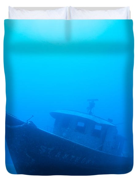 Wreck Of The St. Anthony Duvet Cover by Dave Fleetham - Printscapes