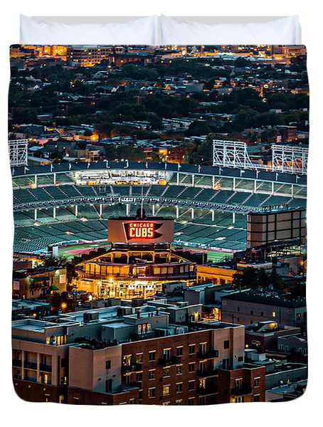 Wrigley Field From Park Place Towers Dsc4678 Duvet Cover by Raymond Kunst