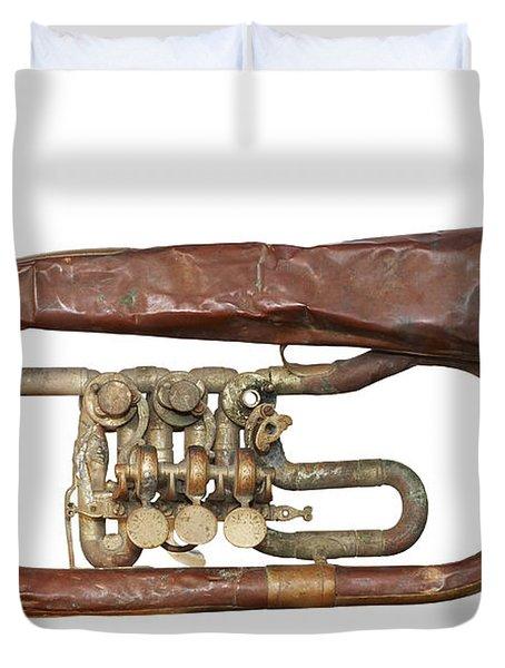 Wrinkled Old Trumpet Duvet Cover by Michal Boubin