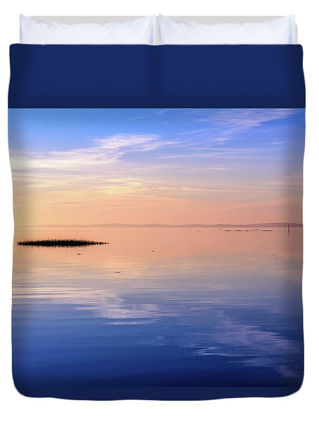 Duvet Cover featuring the photograph Xtra Blue by Thierry Bouriat