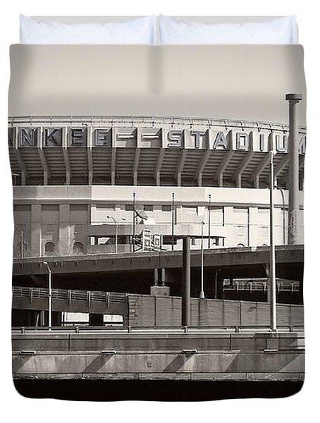 Yankee Stadium    1923  -  2008 Duvet Cover by Daniel Hagerman