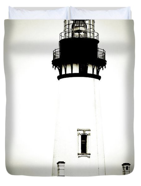 Yaquina Head Light - Haunted Oregon Lighthouse Duvet Cover by Christine Till