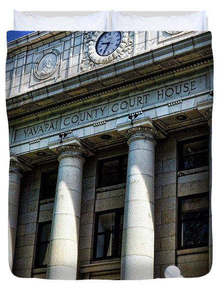 Yavapapi County Court House - Prescott Duvet Cover by Saija  Lehtonen