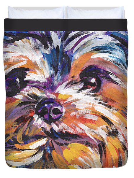 Yay Yorkie Duvet Cover by Lea