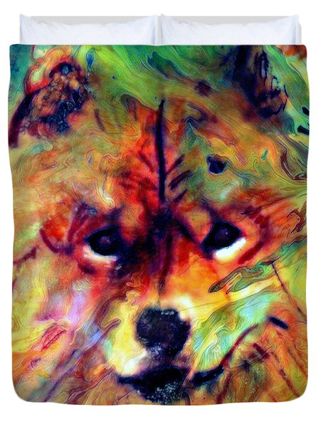 Year Of The Dog Duvet Cover by WBK
