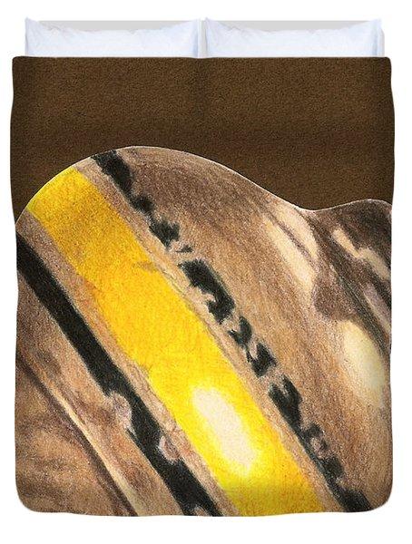 Yellow And Black Top Duvet Cover by Glenda Zuckerman
