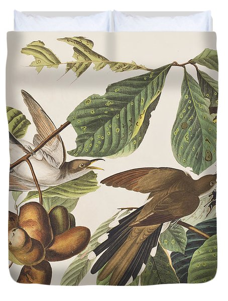 Yellow Billed Cuckoo Duvet Cover by John James Audubon