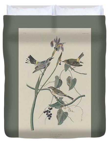 Yellow-crown Warbler Duvet Cover by John James Audubon