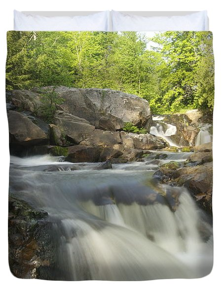 Yellow Dog Falls 3 Duvet Cover by Michael Peychich