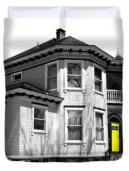 Yellow Door Duvet Cover by Will Borden