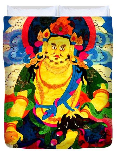 Yellow Jambhala 4 Duvet Cover by Lanjee Chee