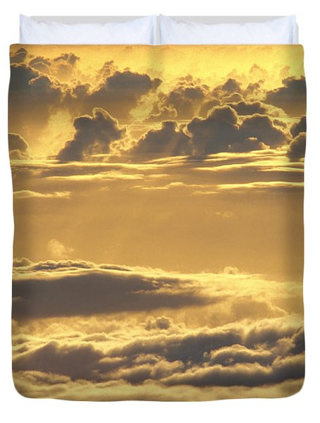 Yellow Sunset Duvet Cover by Carl Shaneff - Printscapes