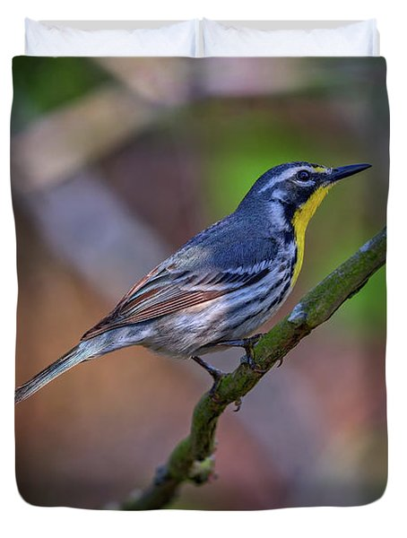 Yellow-throated Warbler Duvet Cover by Rick Berk