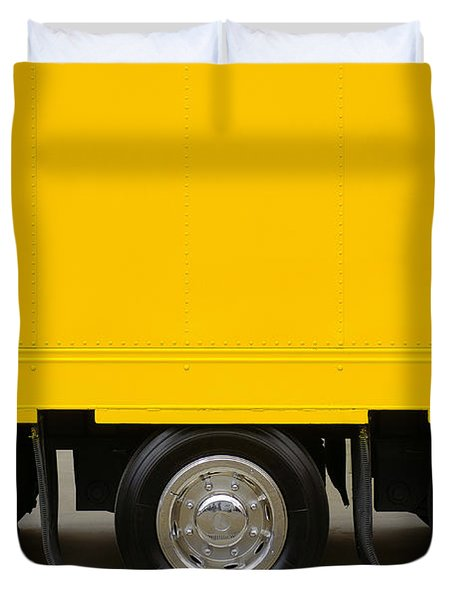 Yellow Truck Duvet Cover by Carlos Caetano