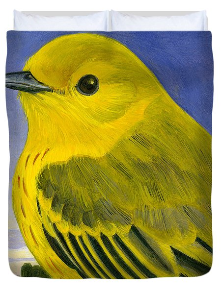 Yellow Warbler Duvet Cover by Francois Girard