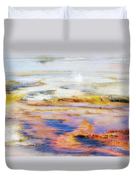 Yellowstone Abstract II Duvet Cover by Teresa Zieba