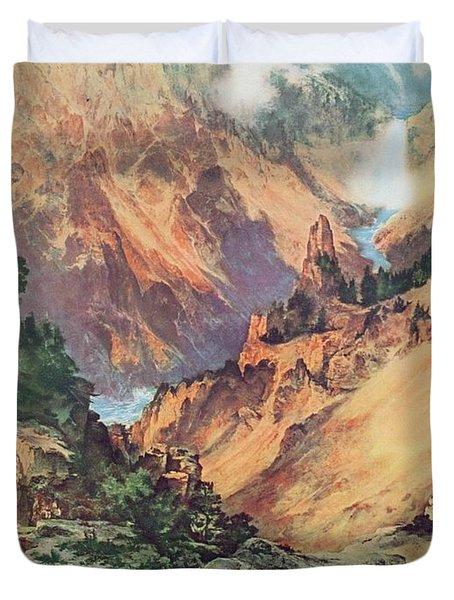 Yellowstone Park Duvet Cover by Thomas Moran