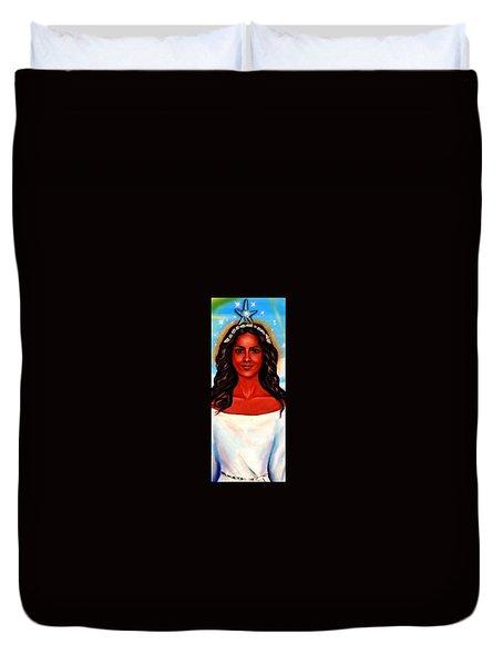 Yemaya-the Goddess Duvet Cover by Carmen Cordova