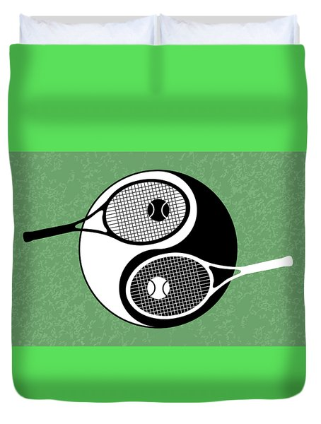 Yin Yang Tennis Duvet Cover by Carlos Vieira