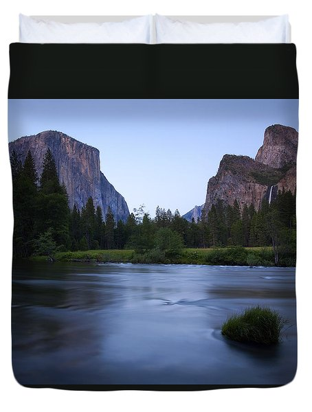 Yosemite Twilight Duvet Cover by Mike  Dawson