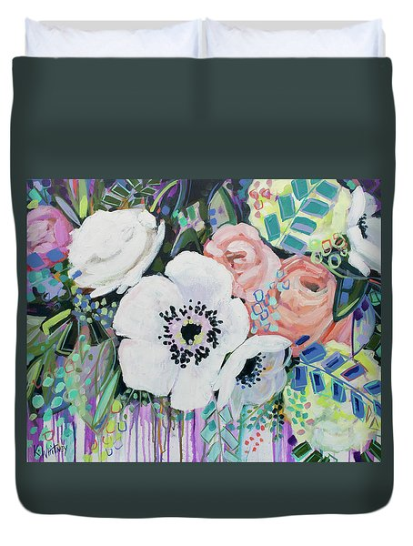 You Had Me At Hello Duvet Cover by Kristin Whitney