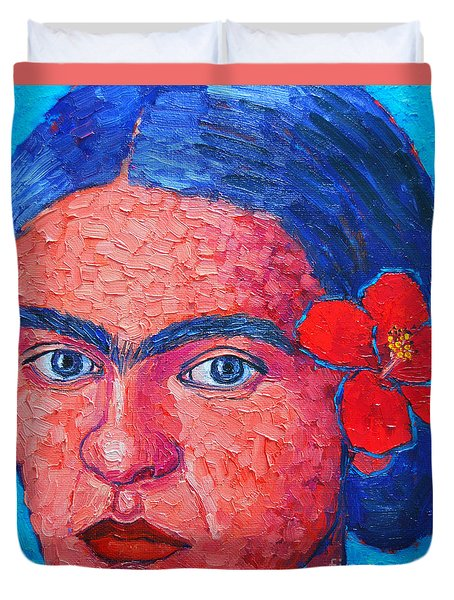 Young Frida Kahlo Duvet Cover by Ana Maria Edulescu
