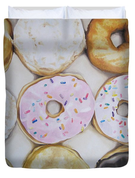 Yummy Donuts Duvet Cover by Jindra Noewi