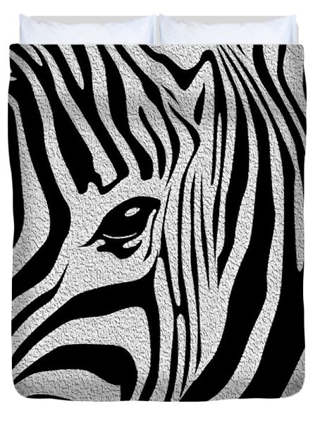Zebra 3 Duvet Cover by Cheryl Young