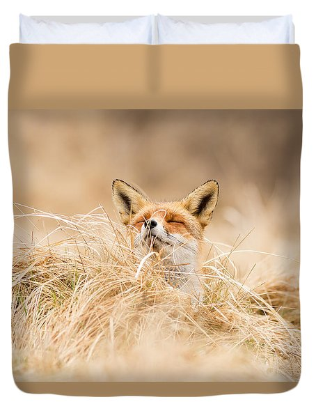 Zen Fox Series - Zen Fox 2.7 Duvet Cover by Roeselien Raimond