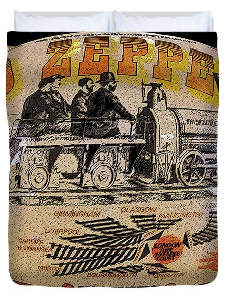 Zeppelin Express Work B Duvet Cover by David Lee Thompson